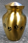 Compassionate Pet Cremation Henderson & Las Vegas NV - Classic Paw Print Brass Small Medium Large