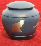 Compassionate Pet Cremation Henderson & Las Vegas NV - Country Blue Silhouette cat