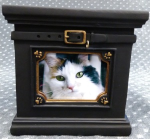Compassionate Pet Cremation Henderson & Las Vegas NV - Wag Picture Urn Black Small Large (for Dogs and Cats)