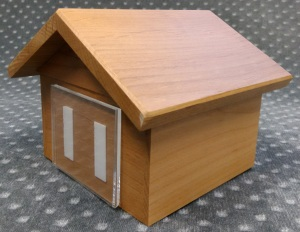 Compassionate Pet Cremation Henderson & Las Vegas NV - Wooden Dog House Natural Small Med Large
